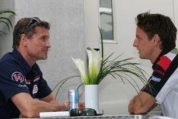 David Coulthard et Jenson Button