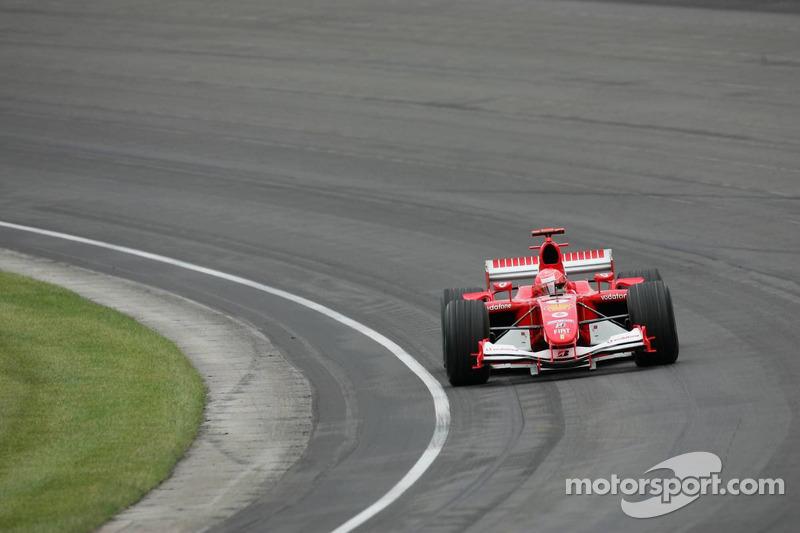 Michael Schumacher leads the 'field'