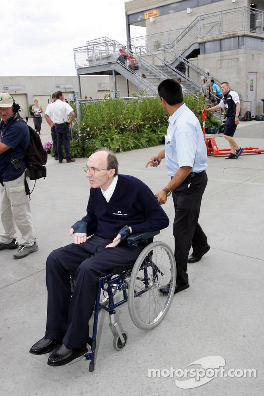 Frank Williams leaves the track