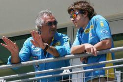 Flavio Briatore et Fernando Alonso