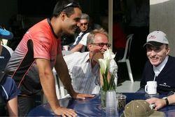 Juan Pablo Montoya y Frank Williams