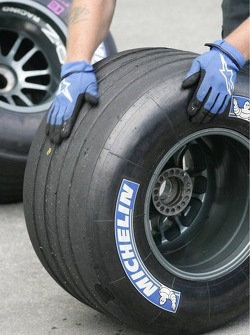 Michelin tires under inspection