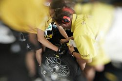 Tire technicians at work