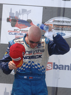 Podium: race winner Paul Tracy
