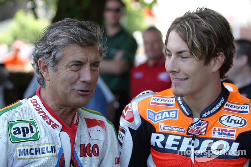 Giacomo Agostini y Nicky Hayden