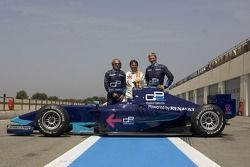 Jacques Laffite, Adrian Campos and Damon Hill
