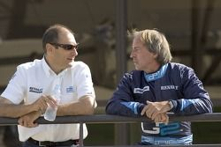 Jacques Laffite talks with Bruno Michel