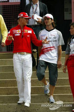 Michael Schumacher et Jarno Trulli