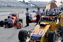 Teams prepping cars for practice