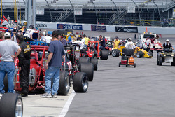 The pits are full of cars