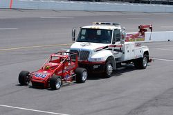 Tradition - they still push them off: eventual winner Ron Gregory in the Beast