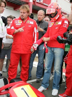 Bridgestone karting event: Michael Schumacher