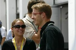Sébastien Bourdais avec sa compagne