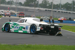 #07 Spirit of Daytona Racing Pontiac Crawford: Bob Ward, Roberto Moreno in the middle of the track