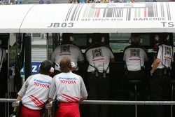 Le pitwall BAR-Honda