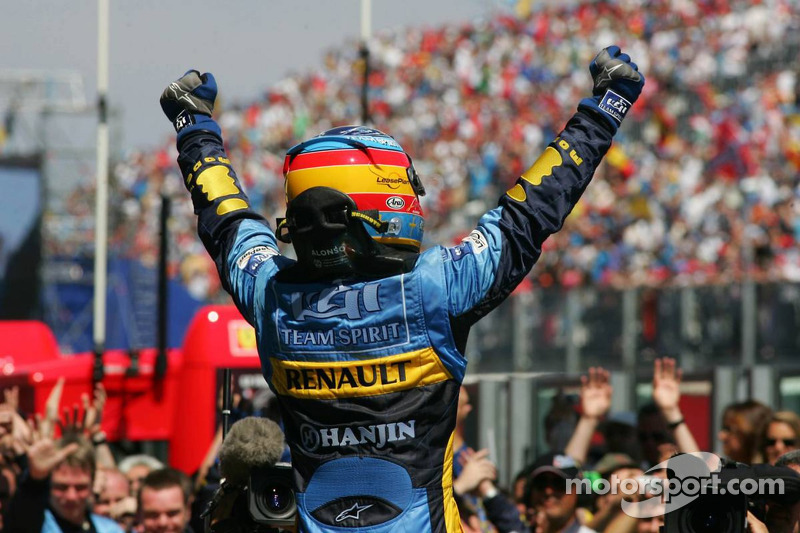 Victoire Renault-Michelin-Alonso à Magny-Cours!