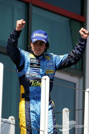 El ganador del GP de Francia 2005, Fernando Alonso