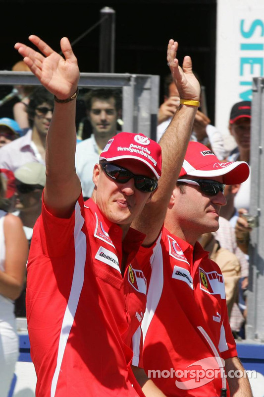 Presentación de pilotos: Michael Schumacher y Rubens Barrichello