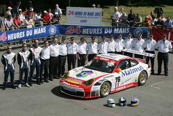 #76 Raymond Narac Porsche 911 GT3 RSR: Romain Dumas, Sébastien Dumez, Raymond Narac and team