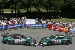 #58 and #59 Aston Martin Racing Aston Martin DBR9