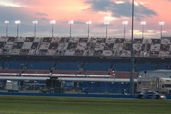 Sunset over stands
