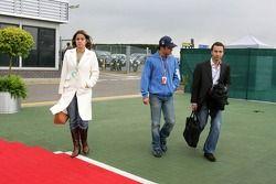 Felipe Massa, girlfriend Rafaella Bassi and Nicolas Todt