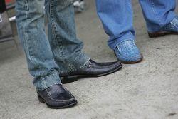 Shoes of Takuma Sato