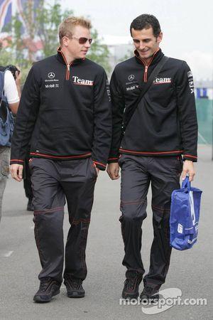 Kimi Raikkonen y Pedro de la Rosa