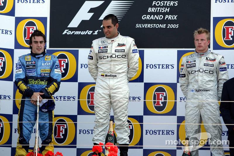 2005 - 1. Juan Pablo Montoya, 2. Fernando Alonso, 3. Kimi Räikkönen