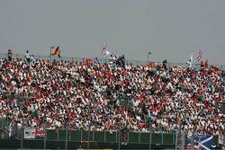 Una gran multitud en Silverstone