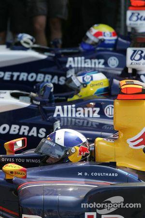 David Coulthard en Parc Fermé
