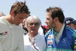 Jenson Button, Bernie Ecclestone y Jacques Villeneuve