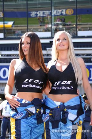 Playstation girls Lucy Pinder and Michelle Marsh