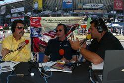NASCAR President Mike Helton with ESPN radio