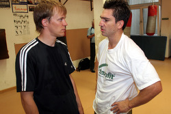 Mattias Ekström with boxer Markus Beyer