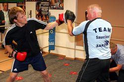 Mattias Ekström tries boxing
