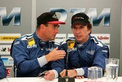 Nigel Mansell and Emerson Fittipaldi
