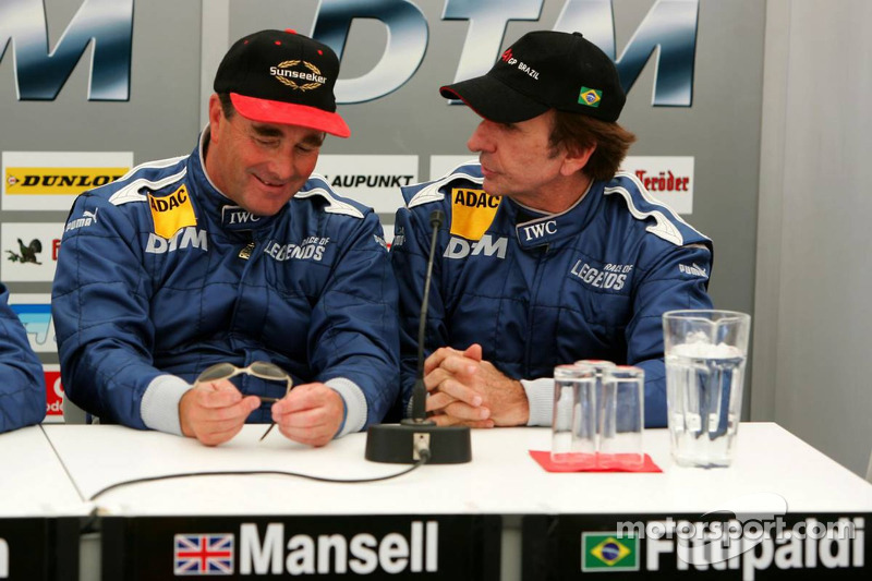 Nigel Mansell and Emerson Fittipaldi at Norisring - DTM Photos