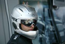 Mercedes crew member