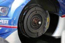 Disk brake on the Audi