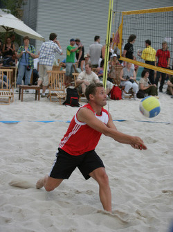 DTM beach volley tournament: Tom Kristensen