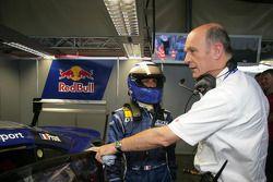 Alain Prost y Dr Wolfgang Ullrich