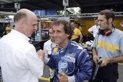 Volker Strycek y Alain Prost