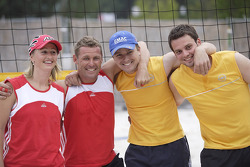 DTM beach volley tournament: Tom Kristensen and Marcel Fassler