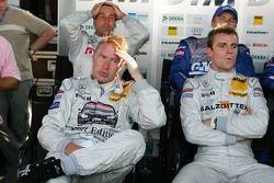 Bernd Schneider, Mika Hakkinen and Jamie Green