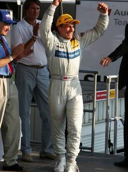 Podium: race winner Gary Paffett