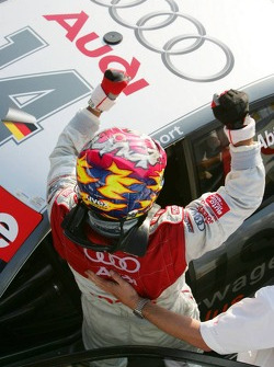 Christian Abt celebrates second place finish