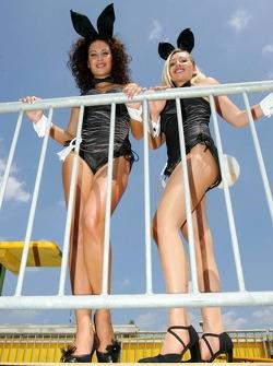 Playmates Corinna Poschinger and Giuliana Marino