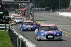 Mattias Ekström drives out of pitlane