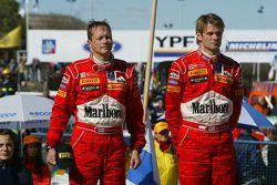 Marcus Gronholm et Timo Rautiainen sur le podium